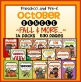 OCTOBER Fall Themes Curriculum BUNDLE for Preschool and Pre-K
