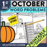 OCTOBER WORD PROBLEMS 1st Grade