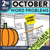 OCTOBER WORD PROBLEMS 2nd Grade