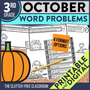 OCTOBER WORD PROBLEMS 3rd Grade