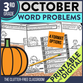 OCTOBER WORD PROBLEMS 3rd Grade