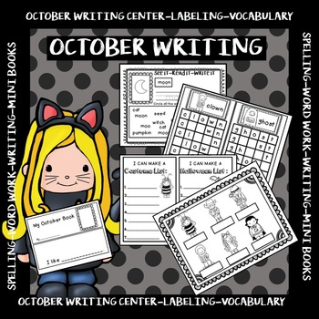 OCTOBER WRITING CENTER- All You Need for your October Writing Center