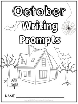 OCTOBER Writing Prompts Journal