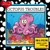 OCTOPUS BOOK & GIANT OCEAN POSTER Pre-K Early Reader