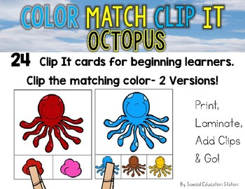 OCTOPUS Color Match Clip It {A Beginning Work Task)