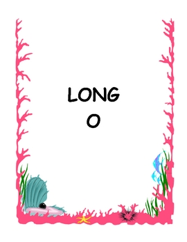 OCTOPUS IN THE OCEAN File Folder Phonics Game- short/long O reading