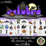 OCTUBRE Tarjetas de Vocabulario, Días Festivos y MÁS ... Grados 1-3