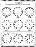 O'Clock Worksheet