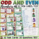 ODD AND EVEN NUMBERS: 32 TASK CARDS: QUIZ