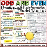 ODD AND EVEN NUMBERS: POWERPOINT PRESENTATION: GUIDED NOTES: QUIZ
