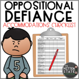 ODD Accommodation Checklist {Oppositional Defiant Behavior}