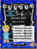 Virginia SOL Concept Sort  ODD and EVEN Grades 5-6