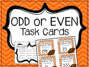 ODD or EVEN Task Cards.  Math Centers