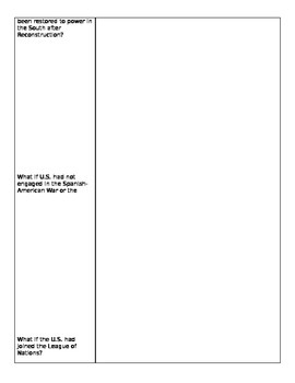 ODE  Social Studies Content Statement 1 U.S. History:  Cornell Notes  (Ohio)
