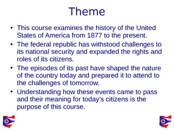 ODE  Social Studies Content Statement 1 U.S. History:  Power Point (Ohio)