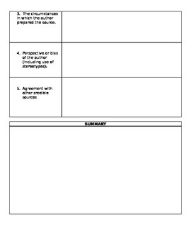 ODE  Social Studies Content Statement 2 U.S. History:  Cornell Notes  (Ohio)