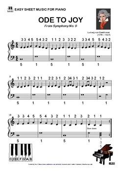 ode to joy sheet music pdf