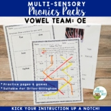 OE Vowel Digraph Orton-Gillingham Level 2 Multisensory Phonics Activities