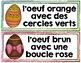 OEUFS COLORÉS - Mots de vocabulaire /24 affiches (script)- GRATUIT
