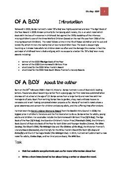 OF A BOY - Sonya Hartnett TTGW