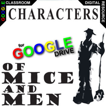 of mice and men characters organizer created for digital tpt