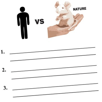 OF MICE AND MEN Conflict Graphic Organizer - 6 Types of Conflict
