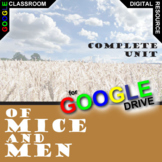OF MICE AND MEN Digital Unit Plan Novel Study - Literature Guide