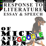 OF MICE AND MEN Essay Prompts and Speech (Created for Digital)