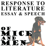 OF MICE AND MEN Essay Prompts & Grading Rubrics