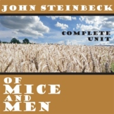 OF MICE AND MEN Unit Novel Study (John Steinbeck) - Literature Guide