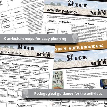 Of Mice And Men Plot Diagram | Of Mice And Men Unit Novel Study Bundle John Steinbeck