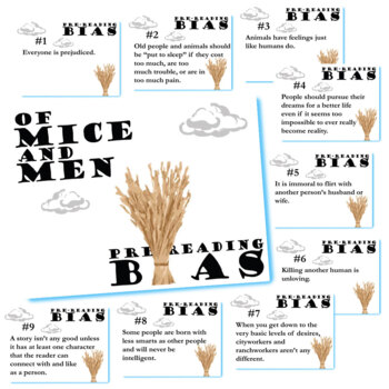OF MICE AND MEN PreReading Bias Activity
