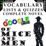 OF MICE AND MEN Vocabulary List and Quiz Assessment (Creat