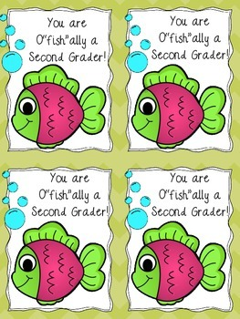 """O""""Fish""""ally in _______ Grade Open House Gift - Color or Black and White"""