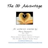 OG Advantage Morphological Awareness Activities- GREAT FOR