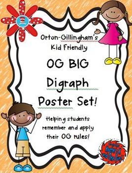 Orton Gillingham BIG Digraph Poster Set