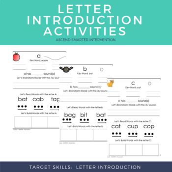 OG Letter Introduction Worksheets