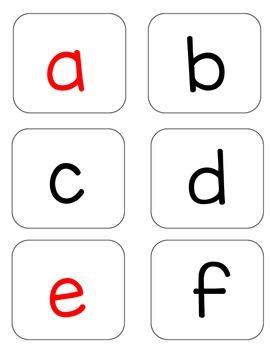 OG Letters Alphabet Vowels in Red Blending Letter Exchange