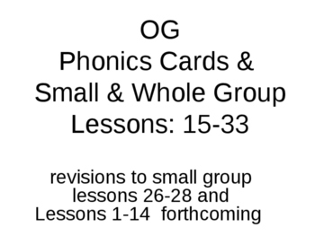 OG Small Group, Whole Group, and Phonics picture cards