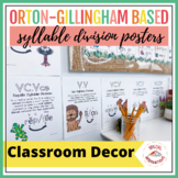 Orton-Gillingham Syllable Division Posters (Color)