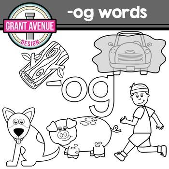 OG Word Family Clipart - CVC Clipart
