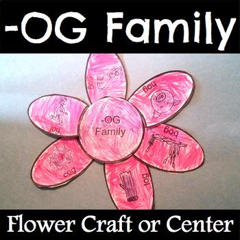 OG Word Family Flower Craft or Center