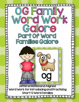 OG Word Family Word Work Galore-Differentiated and Aligned