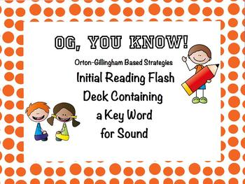 OG, You Know! PROMETHEAN OG Based Initial Reading Flash Deck Keyword/Sound
