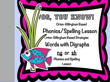 Orton-Gillingham Based Lesson Digraph ng and sh PROMETHEAN Flip Chart