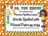 Orton-Gillingham Based Vowel Pairs ee and ea PROMETHEAN Fl