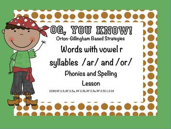 OG, You Know! Vowel R Syllables /ar/ and /or/ Promethean Flip Chart