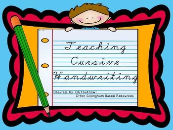 Orton-Gillingham Based Cursive Handwriting Instruction PROMETHEAN Flip Chart