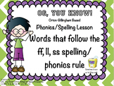Orton-Gillingham FLS Spelling/Phonics Rule Based PROMETHEAN Flip Chart