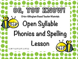 Orton-Gillingham Based Lesson Open Syllable PROMETHEAN Flip Chart